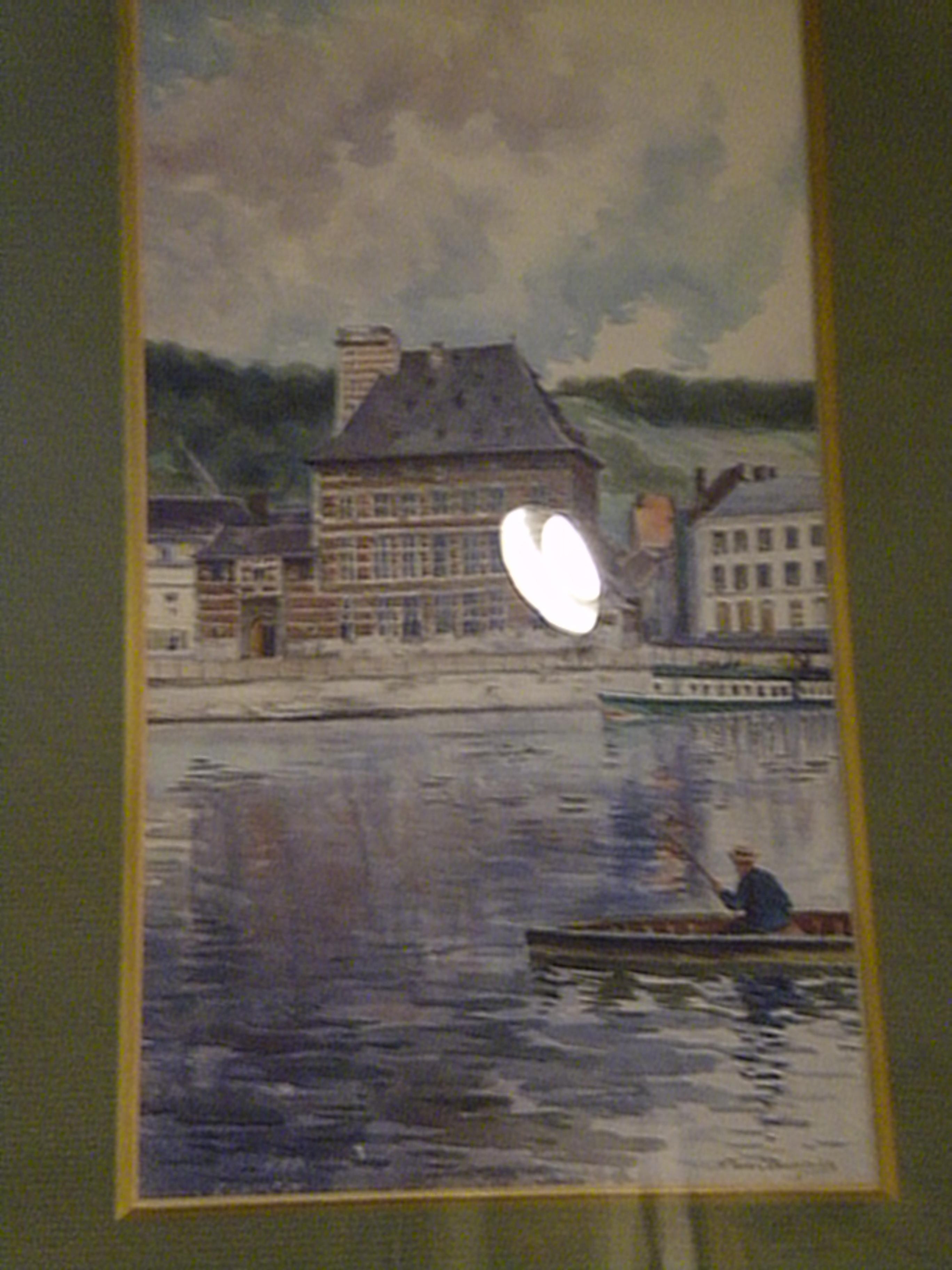 """Peinture """"le musée Curtius"""" de Jean Cambresier"""