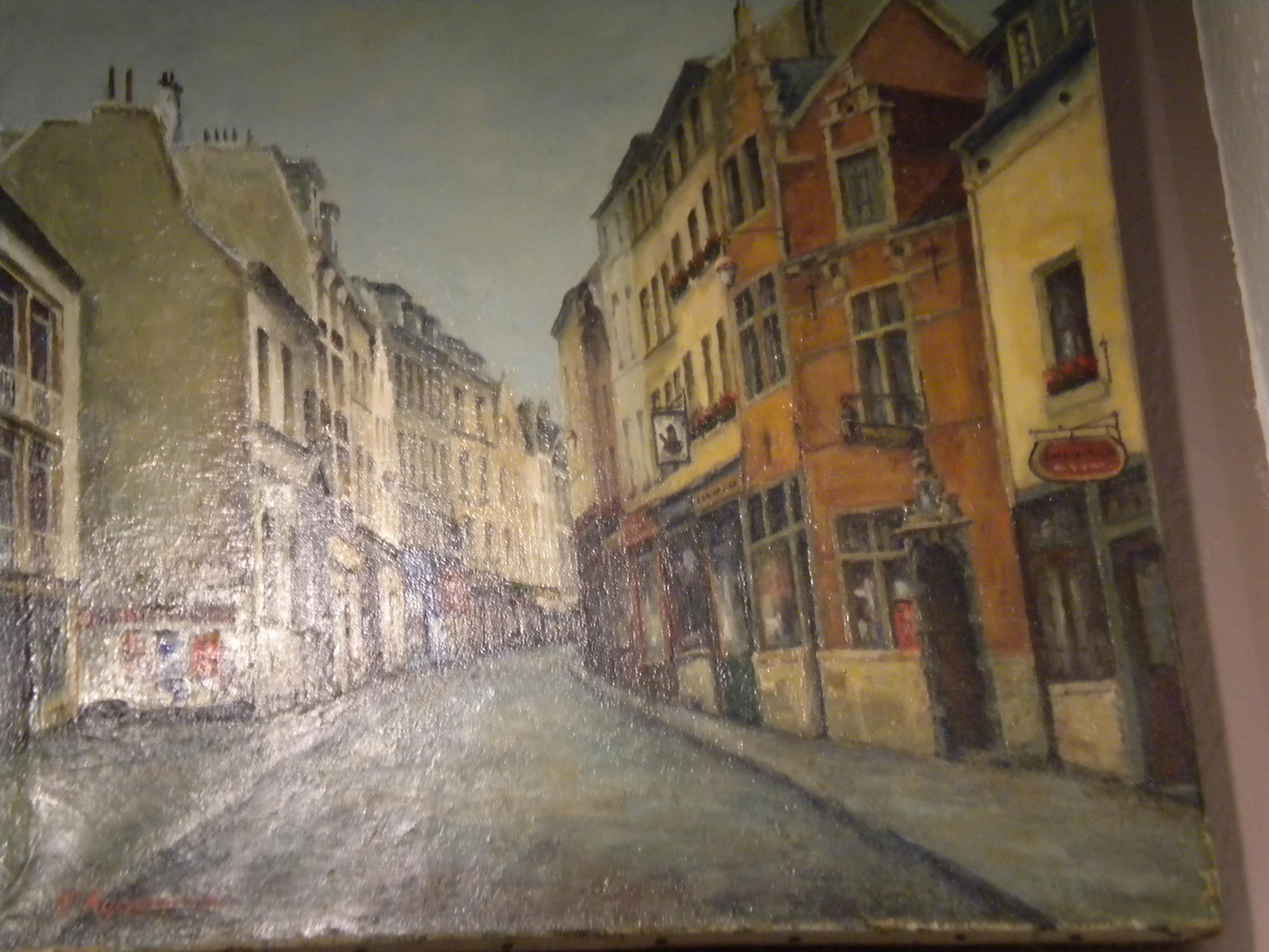 Peinture d'une rue de ville