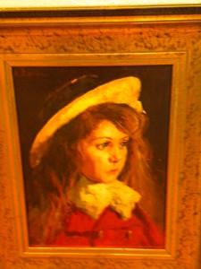 """Petite fille au chapeau"" Henri CHANTRY"